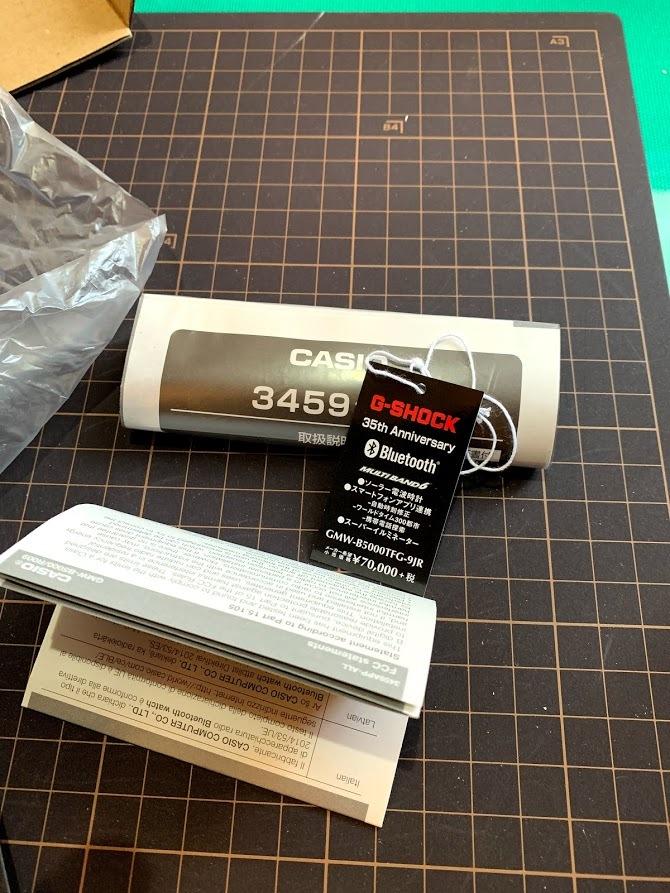 # 新品、未使用 CASIO G-SHOCK カシオ ジーショック 電波ソーラー 35周年記念モデル フルメタル オールゴールドGMW-B5000TFG-9JR限定品_画像3
