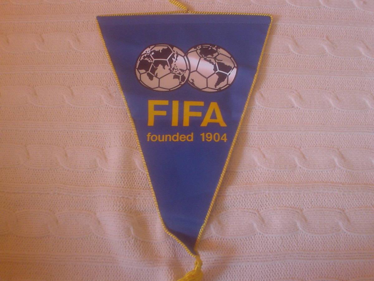 FIFA 国際サッカー連盟 サッカー協会 フラッグ 旗 壁用 ビンテージ ワールドカップ グラフィック 南米サッカー協会 時代_画像1