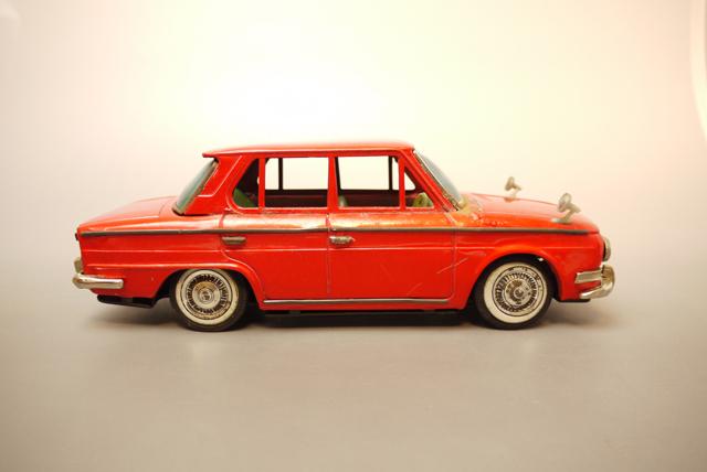 ■昭和当時物ブリキ 日野コンテッサ1300クーペ@米澤玩具製 旧車_画像5