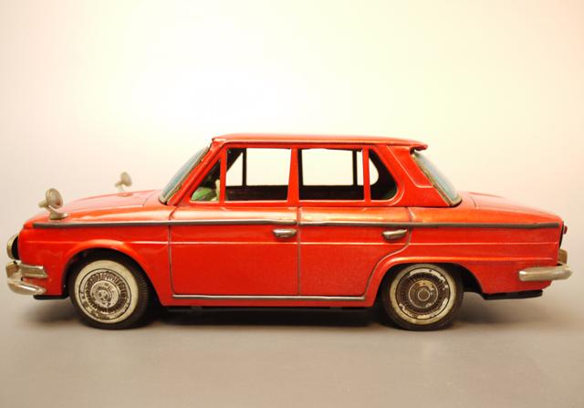 ■昭和当時物ブリキ 日野コンテッサ1300クーペ@米澤玩具製 旧車_画像3
