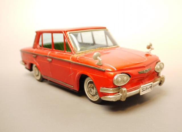 ■昭和当時物ブリキ 日野コンテッサ1300クーペ@米澤玩具製 旧車