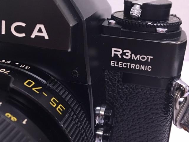 ★ 【美品】 LEICA/ライカ フィルム一眼レフカメラ R3 MOT ELECTRONIC ブラック ボディ  ★2742_画像4