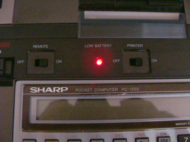 ◆電源は ON◆SHARP  ポケットコンピューターシステム  PC-1255  CE-126◆動作セズ→ジャンク◆ _画像3