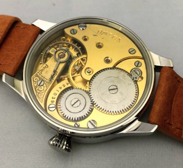 1円出品!送料無料!omega REGULATEUR オメガ レギュレーター ミリタリー 文字盤白 アンティーク腕時計  ビンテージ  手巻き _画像7