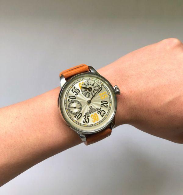 1円出品!送料無料!omega REGULATEUR オメガ レギュレーター ミリタリー 文字盤白 アンティーク腕時計  ビンテージ  手巻き _画像8