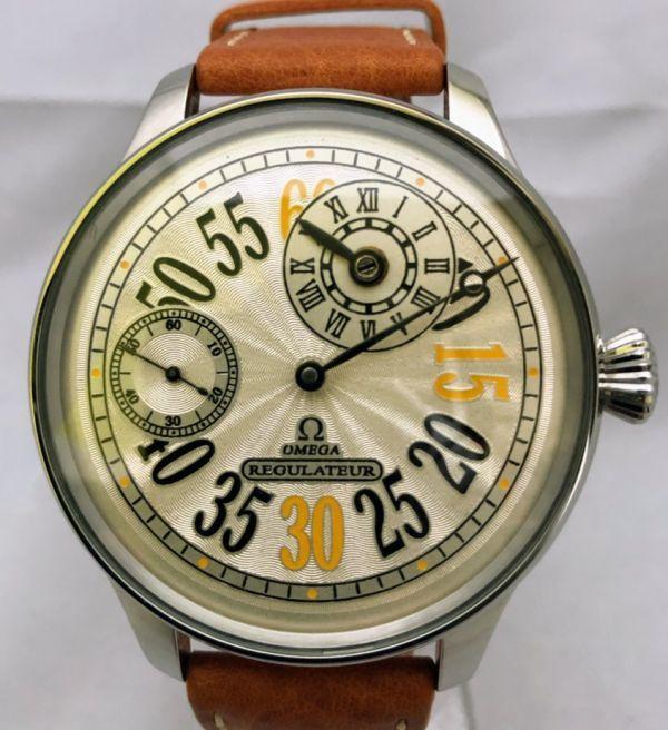 1円出品!送料無料!omega REGULATEUR オメガ レギュレーター ミリタリー 文字盤白 アンティーク腕時計  ビンテージ  手巻き _画像3