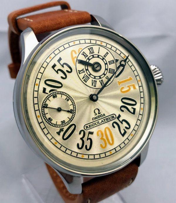 1円出品!送料無料!omega REGULATEUR オメガ レギュレーター ミリタリー 文字盤白 アンティーク腕時計  ビンテージ  手巻き