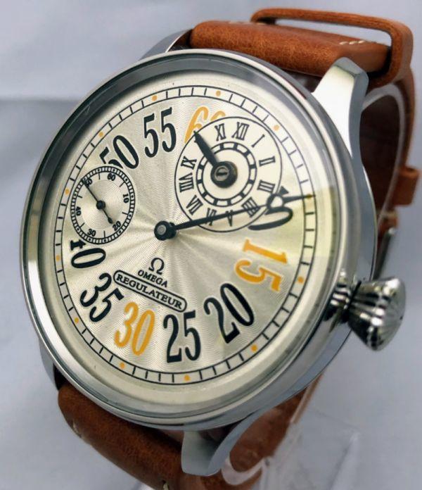 1円出品!送料無料!omega REGULATEUR オメガ レギュレーター ミリタリー 文字盤白 アンティーク腕時計  ビンテージ  手巻き _画像2