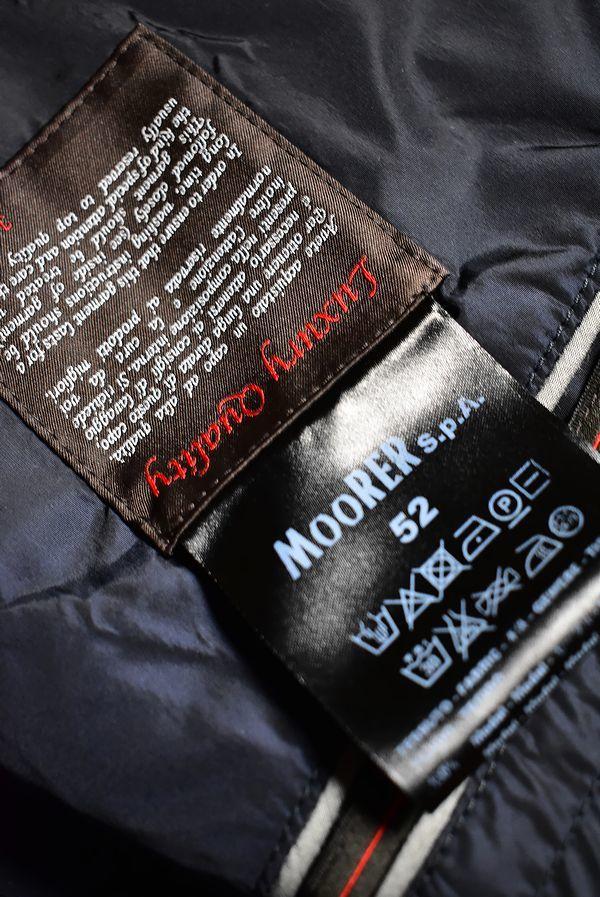 7万■MOORER社別ブランド JAN MAYEN ヤンマイエン 艶ありジャージコンビバイカージャケット ネイビー52