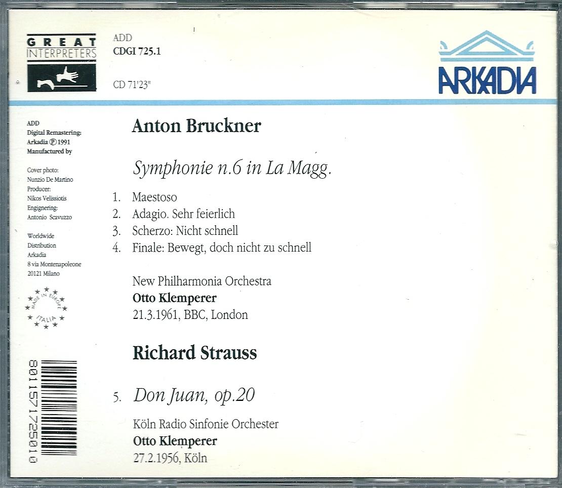 クレンペラー ブルックナー 交響曲第6番_画像2
