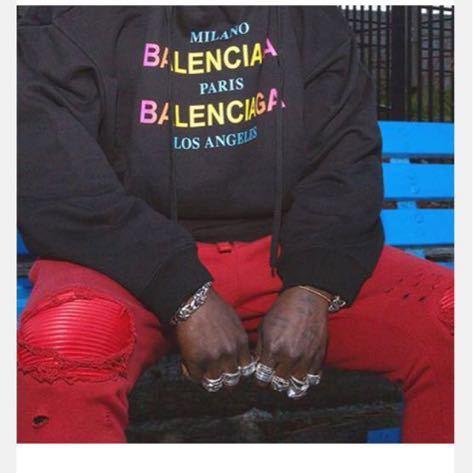 dude9 (即発送可能)最終値下げ 新品 トレーナーBALENCIAGA バレンシアガ M ブラック_画像2