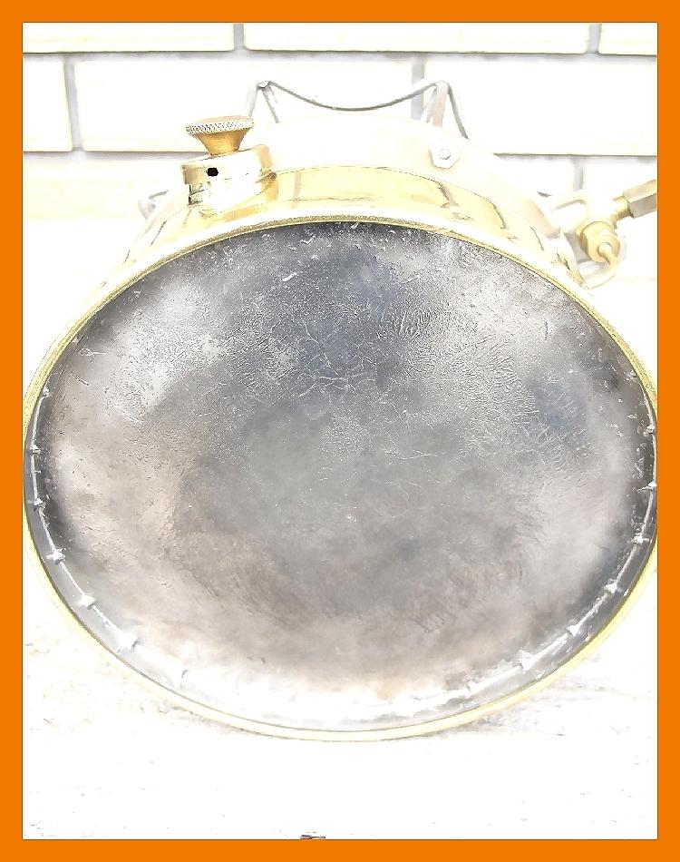 【M】超光沢500コールマン3'47完全燃焼分解整備元箱点火保証ブラスの生地を鏡面に研磨してコーティングしています美しい光沢鏡のタンク_画像8