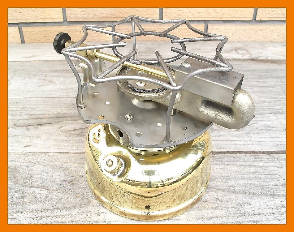 【M】超光沢500コールマン3'47完全燃焼分解整備元箱点火保証ブラスの生地を鏡面に研磨してコーティングしています美しい光沢鏡のタンク_画像6