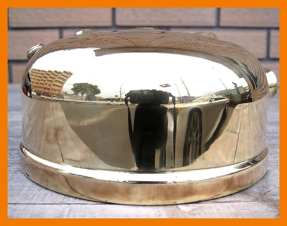【M】超光沢500コールマン3'47完全燃焼分解整備元箱点火保証ブラスの生地を鏡面に研磨してコーティングしています美しい光沢鏡のタンク_画像3