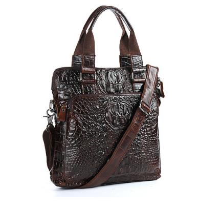 99012925e854 最高級本革保証 多機能 ワニ柄 レザー ビジネスバッグ 本革 鞄 メンズ
