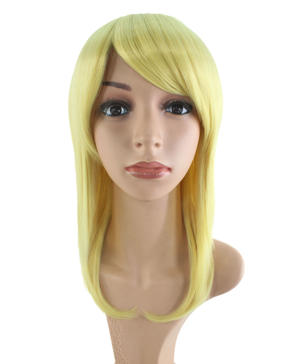 Wigs2you C-007 Pale Yellow* Pearl Yellow*ends! Great deals! Cosplay Wig*elegant feel*Halloween*banquets/events*community care*blond