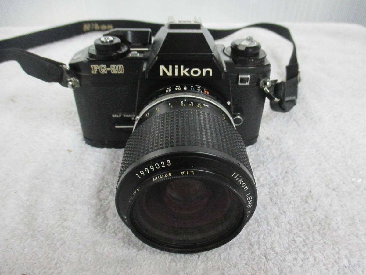 NIKON ニコン FG-20 カメラ LENS SERIES 36-72mm 1:3.5 レンズ 一眼レフ 中古 尾_画像2
