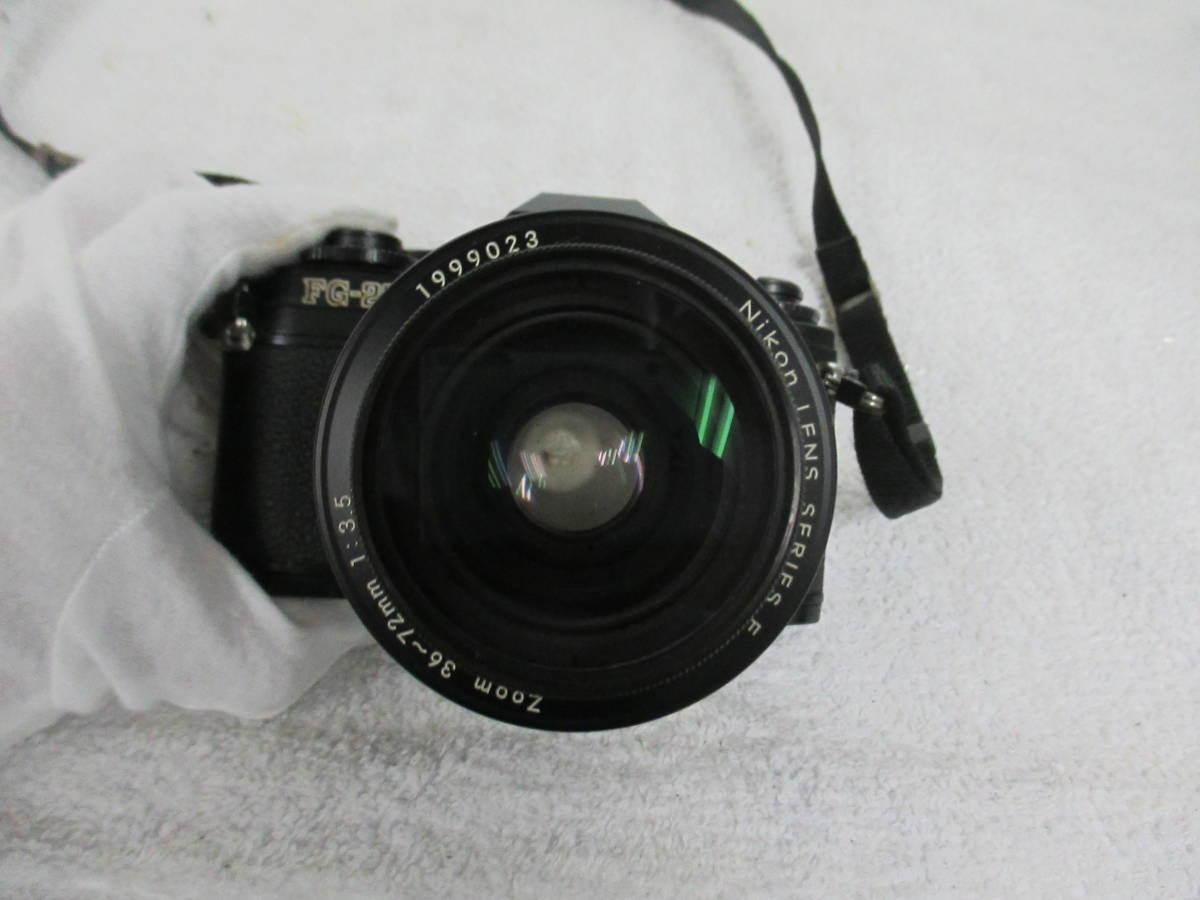 NIKON ニコン FG-20 カメラ LENS SERIES 36-72mm 1:3.5 レンズ 一眼レフ 中古 尾_画像3
