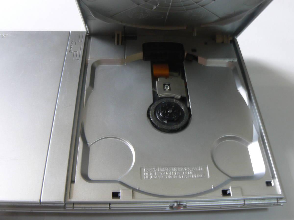 SONY PS2・PlayStation2・プレステ2 本体のみ SCPH-77000 薄型 動作確認済 シルバー ④_画像7