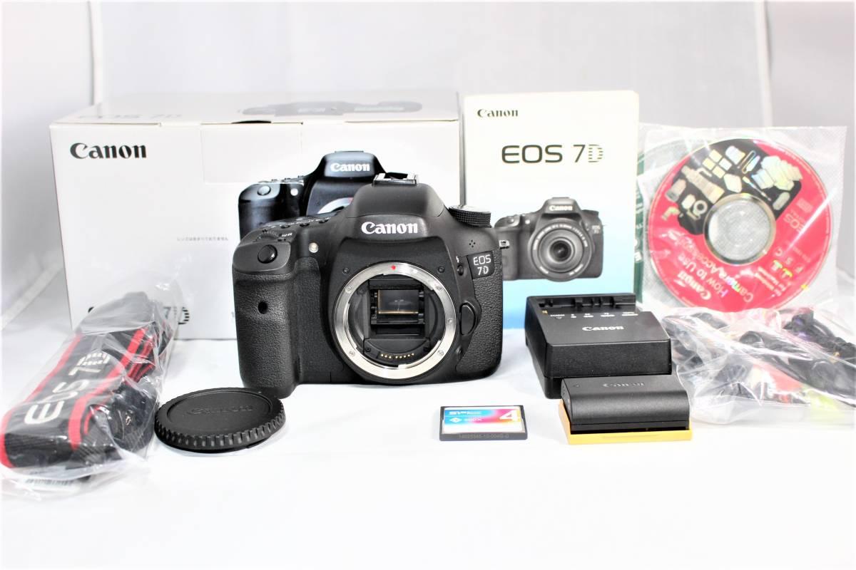 ★箱付美品CF4G付★ キャノン Canon デジタル一眼レフカメラ EOS 7D ボディ ■ K-26M19-113