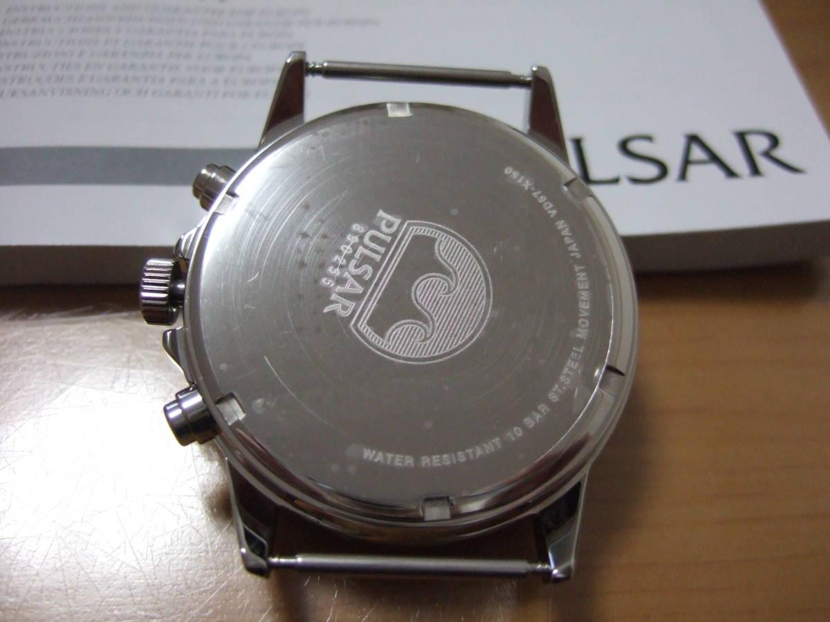 新品★PULSAR ミリタリークロノグラフ★パルサー時計セイコー_画像3