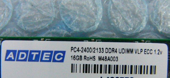 hz8 DDR4-2400 PC4-19200 16GB ECC ADTEC 在庫8_画像2