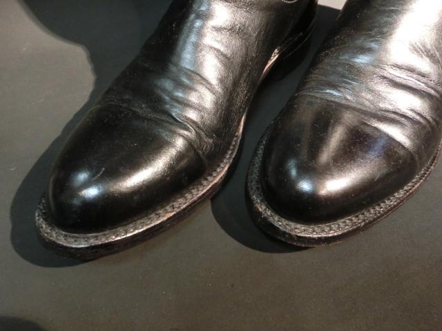 m149 最高級品 ルケーシー Lucchese メンズ ショート ウエスタンブーツ 黒 ブラックカラー 25.5cm US 8D_画像5