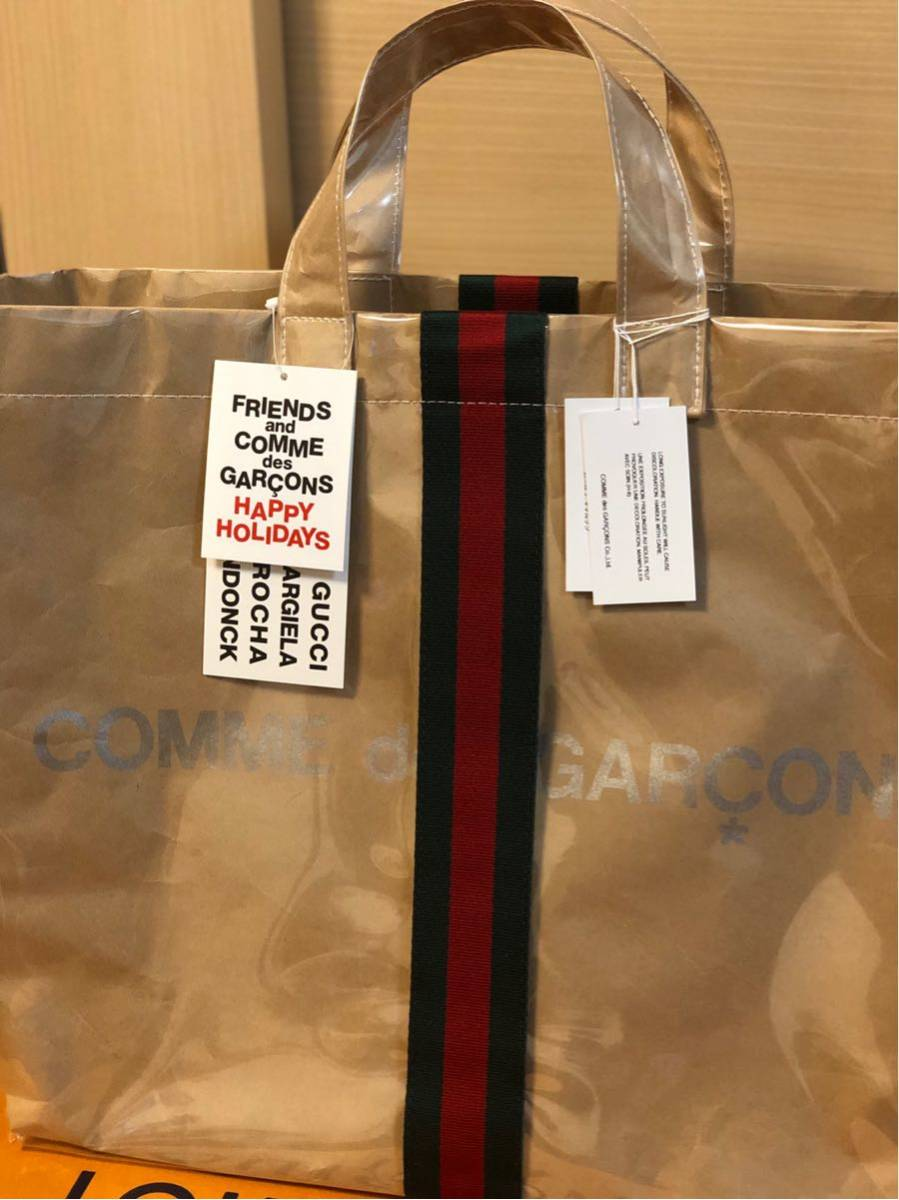 47a88ed7500 domestic regular happy holidays COMME des GARONS × CUCCI PVC tote bag Comme  des Garcons x Gucci Christmas Logo CDG