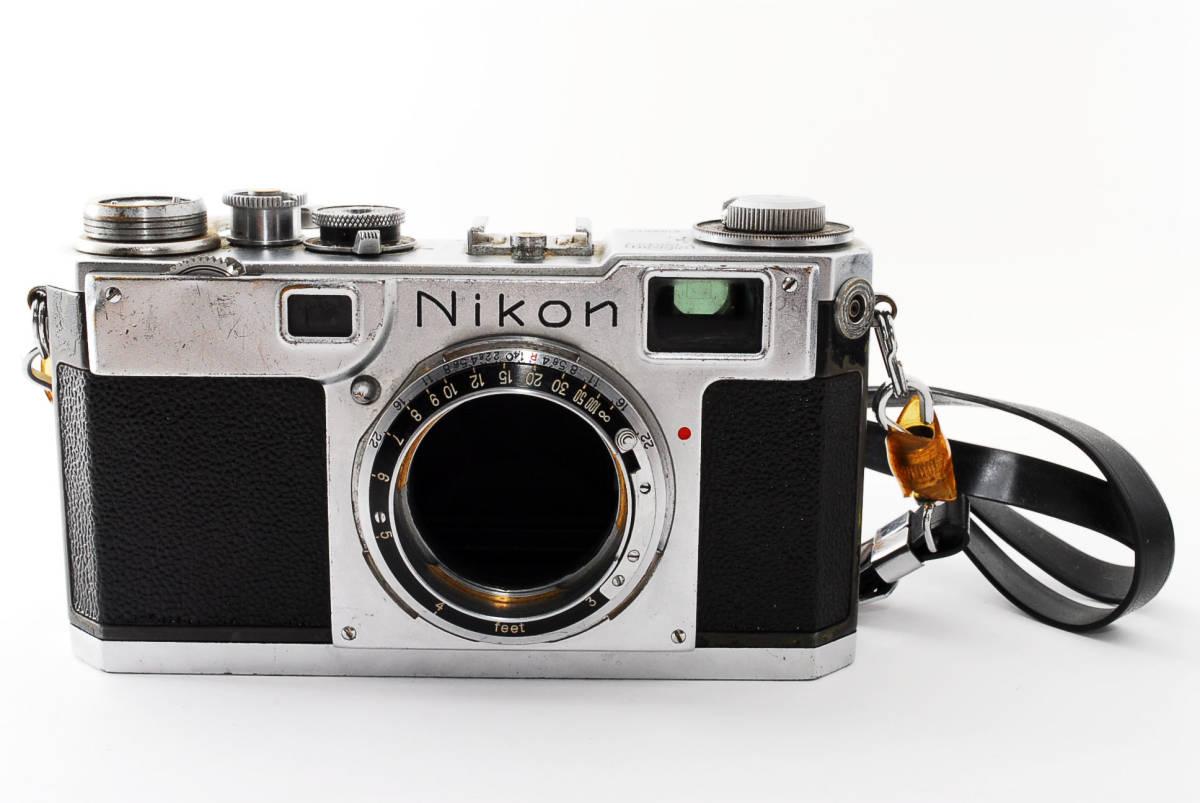 ★☆人気の名機! Nikon ニコンS2 後期型 黒ダイヤル #635☆★_画像1