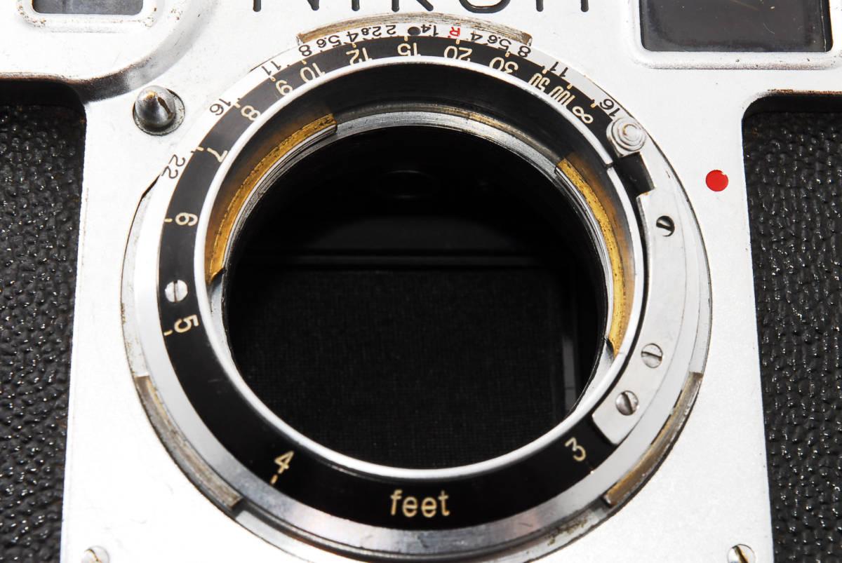 ★☆人気の名機! Nikon ニコンS2 後期型 黒ダイヤル #635☆★_画像9
