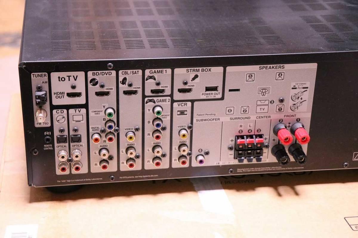 ONKYO AVレシーバー 5.1ch対応 ブラック TX-SR343(B) 元箱、緩衝材、付属品あり_画像4