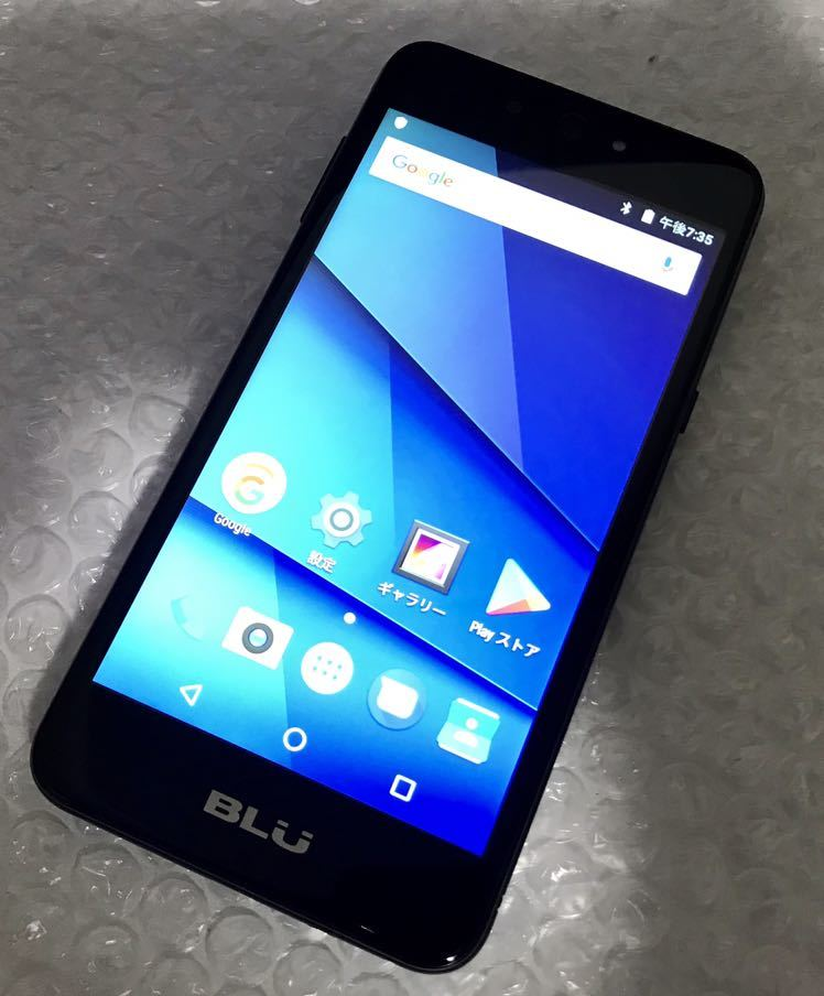 SIMフリースマートフォン BLU GRAND X LTE ブラック 中古品 白ロム クリックポスト送料無料 androidバージョン7.0