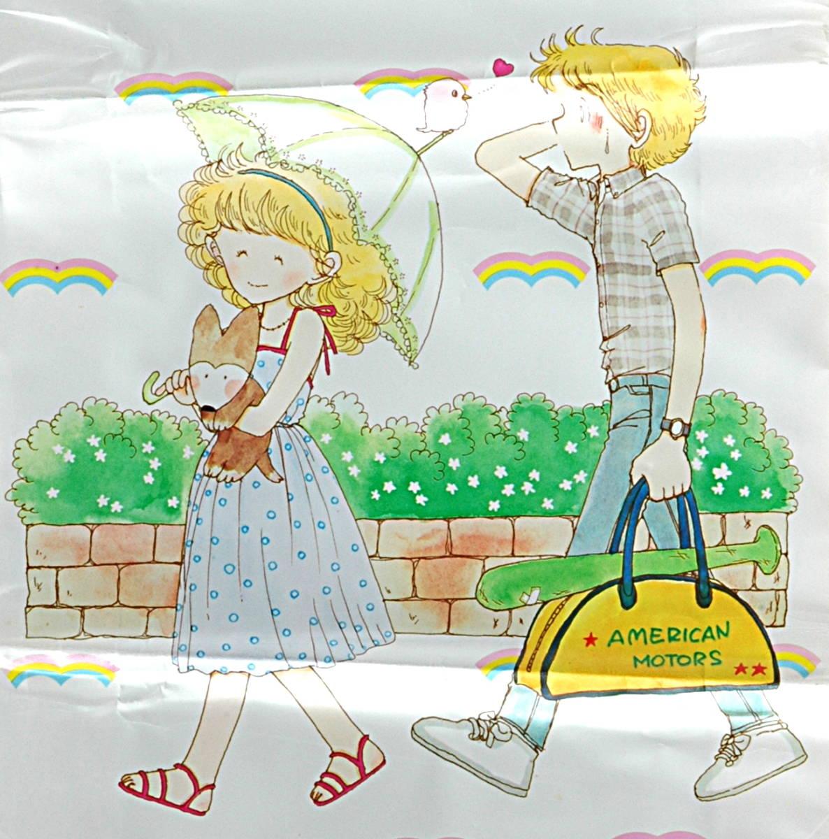 [Vintage] [New Item] [Delivery Free]1980s Ribbon Issued Mutsu Ako Gazette Bag りぼん付録 陸奥 A子 ガゼット袋(ビニール小物入れ)_画像3