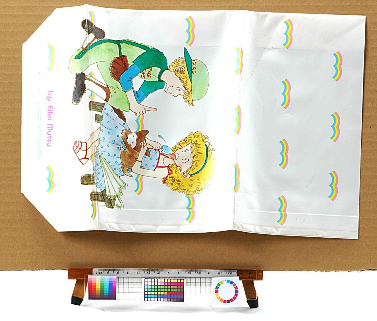 [Vintage] [New Item] [Delivery Free]1980s Ribbon Issued Mutsu Ako Gazette Bag りぼん付録 陸奥 A子 ガゼット袋(ビニール小物入れ)_画像5