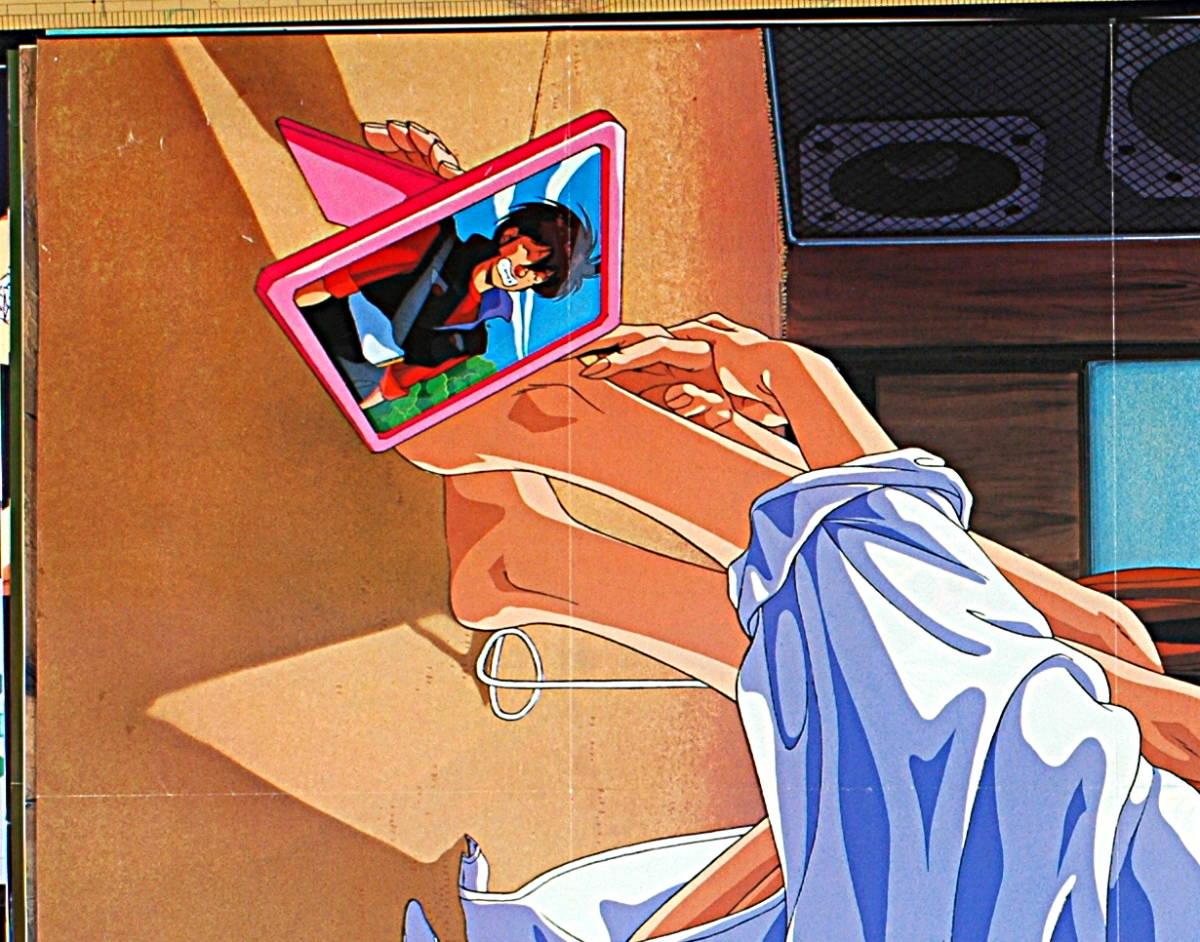【未展示新品(難有り)】【宅配料込】1980s Animedia 超音戦士ボーグマンSonic Soldier Borgman Anice Farm&アニメ三銃士B2ポスター_画像2