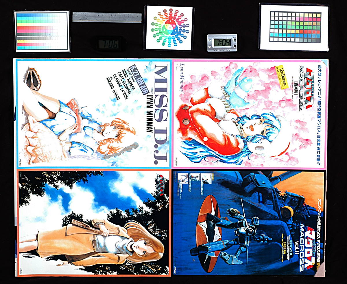 [Vintage]1980s Victor Super Dimension Fortress Macross Promotional Poster Collection B2Poster 超時空要塞マクロス _画像2