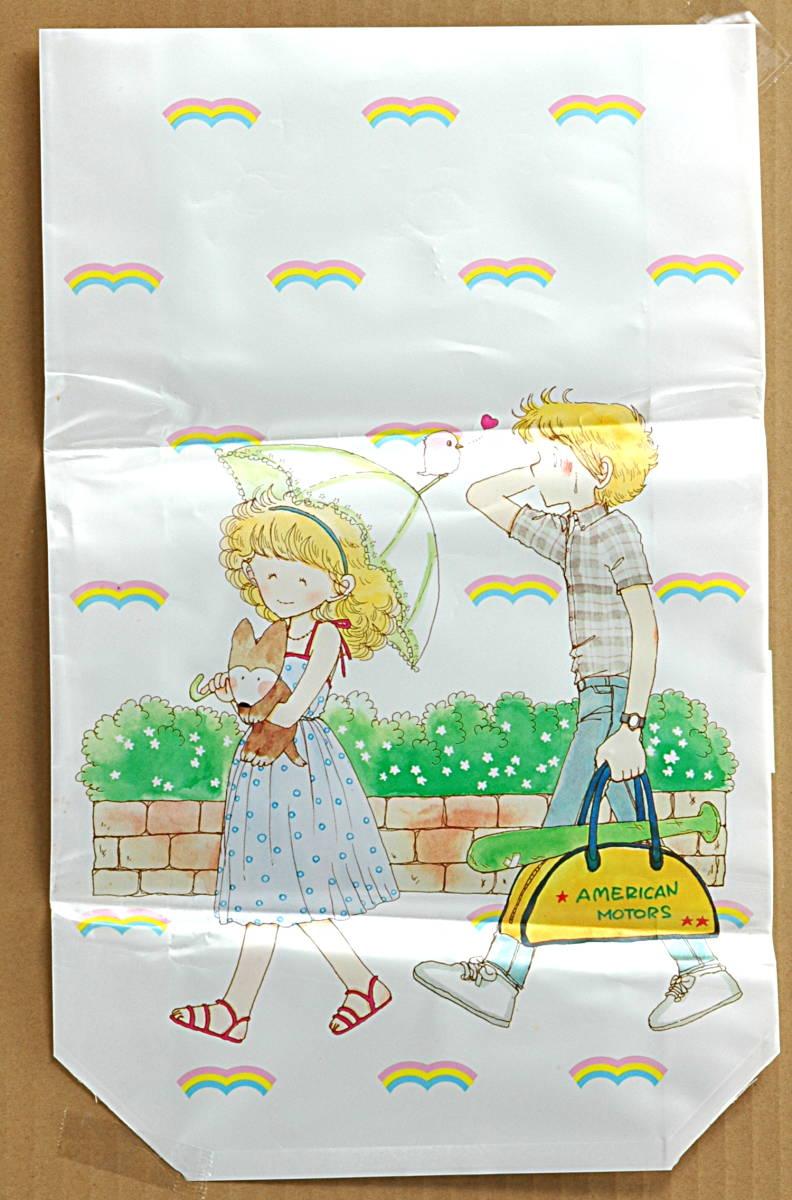 [Vintage] [New Item] [Delivery Free]1980s Ribbon Issued Mutsu Ako Gazette Bag りぼん付録 陸奥 A子 ガゼット袋(ビニール小物入れ)_画像1