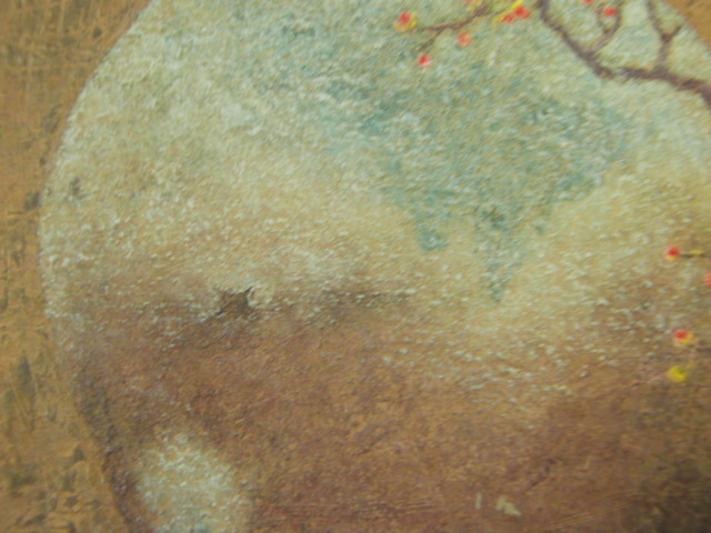 大藪 雅孝【古丹波の壷】、希少画集画、状態良好、新品高級額装付、送料無料、洋画 油彩 風景、so_画像5