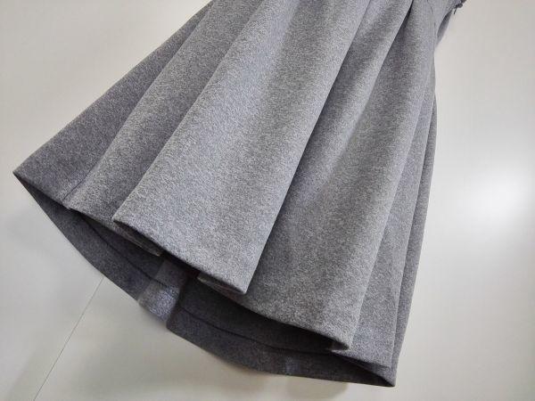 jjyk2-760 ■ MURUA ■ ムルーア ワンピース ミニ ハイネック カットソー ノースリーブ 袖なし グレー 2 M_画像6