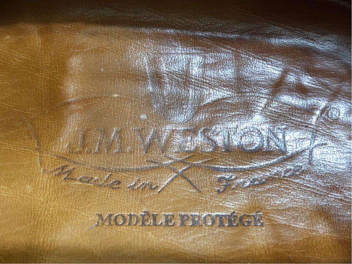 木製ツリーセット J.M.WESTON JMウエストン ゴルフ GOLF 5D ブラウン_画像6