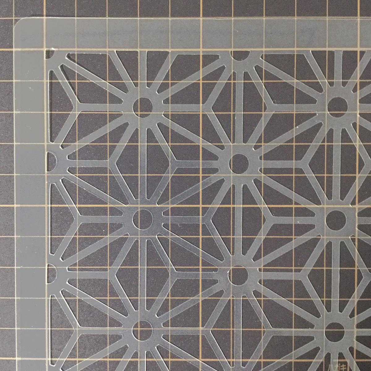 麻の葉模様A 和風地紋9番  ステンシルシート 型紙図案 NO239_画像5