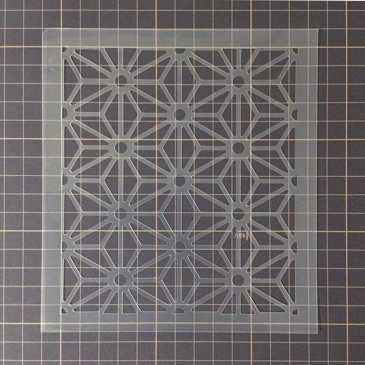 麻の葉模様A 和風地紋9番  ステンシルシート 型紙図案 NO239_画像6