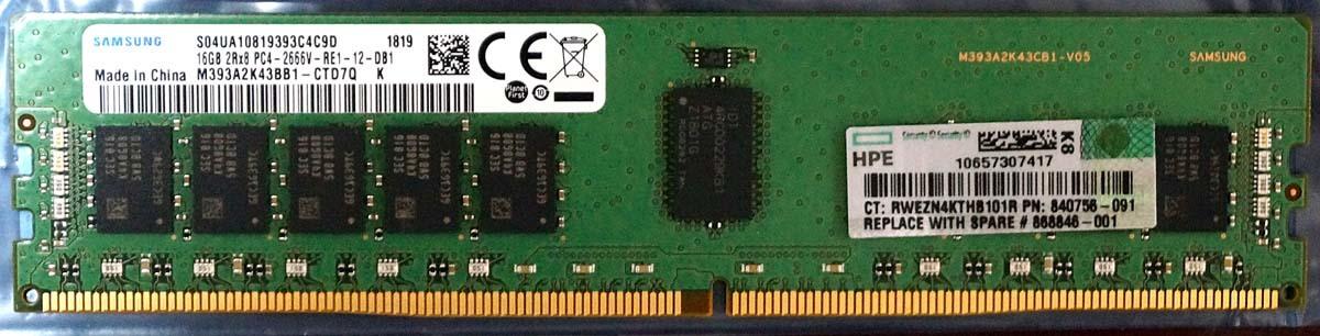 代購代標第一品牌- 樂淘letao - HP純正DDR4 16GB PC4-2666 ECC