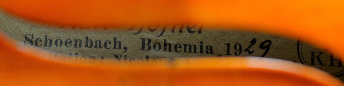 【希少品】Labeled Karl Hofner 4/4バイオリン Schoenbach Bohemia 1929 調整済み フィッティングパーツ新品交換済み _画像6