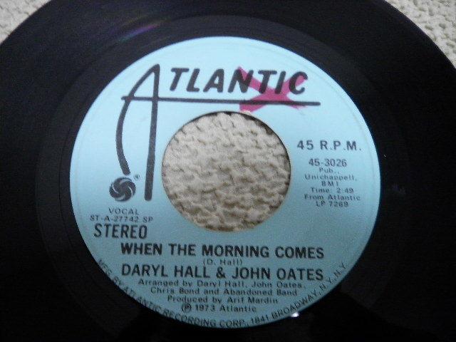 US盤プロモシングル DARYL HALL&JOHN OATES ダリル・ホール PROMO 7' EP _画像2