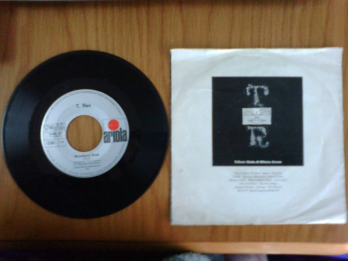 T.Rex: Hot Love / Woodland Rock ; Germany Ariola 7 inch 45 with Pcture Sleeve _画像3