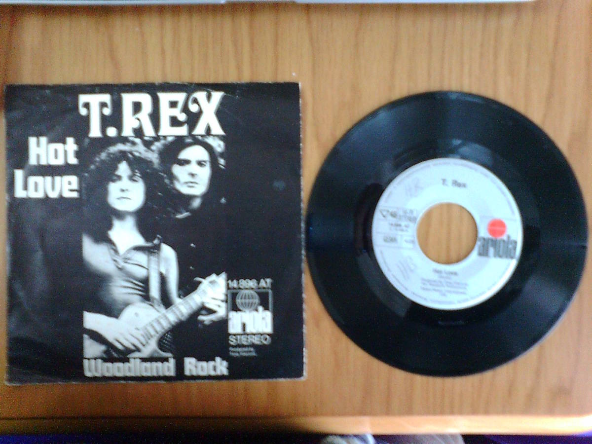 T.Rex: Hot Love / Woodland Rock ; Germany Ariola 7 inch 45 with Pcture Sleeve _画像4