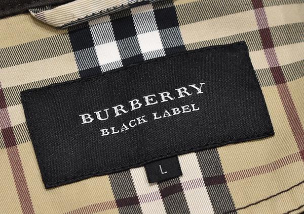 バーバリーブラックレーベル 【BURBERRY BLACK LABEL】 裏地チェック コットンシャツジャケット/茶 L_画像6