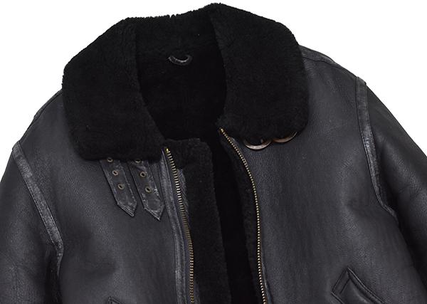 レア◎ 【young】 羊革 b-3 リアルムートン フライトジャケット B-3/黒_画像4
