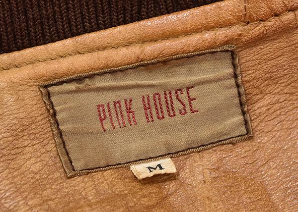 ピンクハウス 【PINK HOUSE】 MA-1タイプ レザーブルゾン ブラウン Mサイズ_画像6